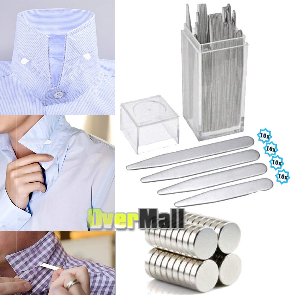 Sizes For Men Shirts Clothing 40 Plastic Collar Stays