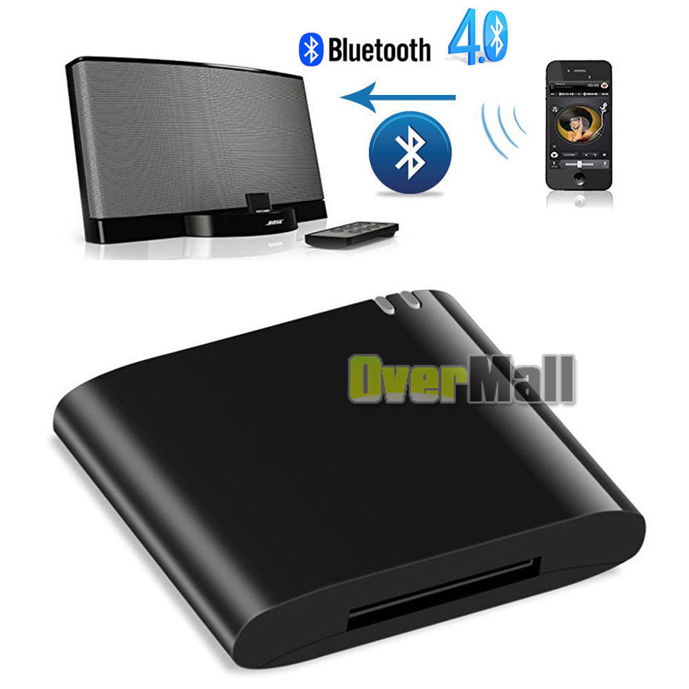 bluetooth 4 1 music receiver audio adapter for ipod iphone. Black Bedroom Furniture Sets. Home Design Ideas