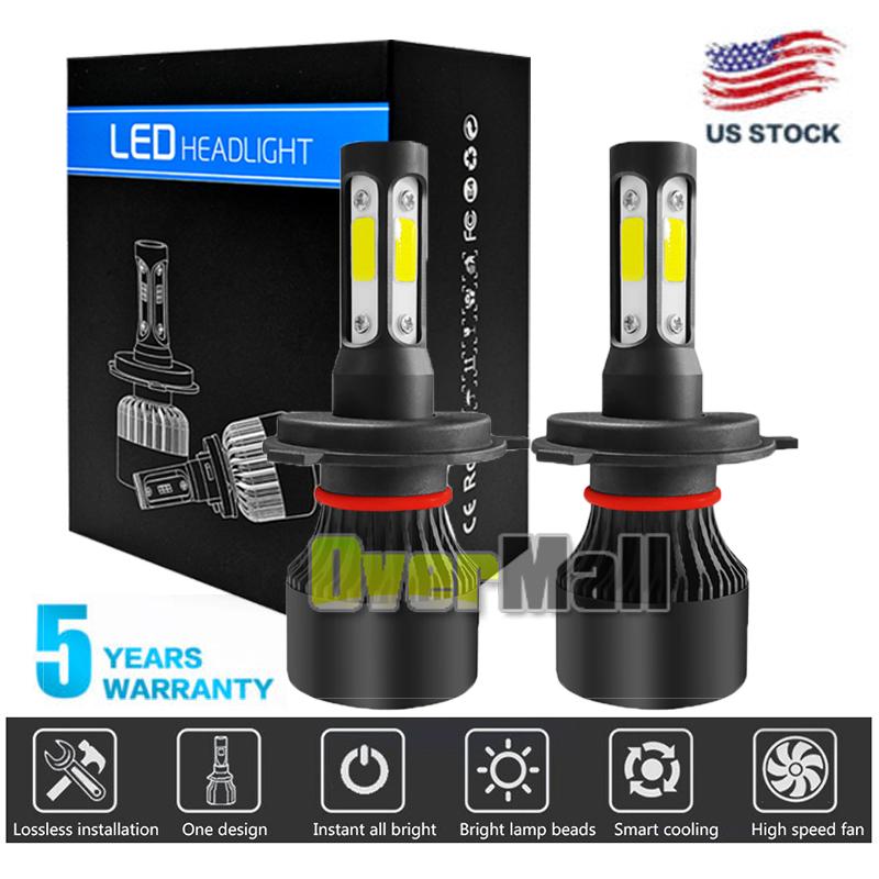 CREE H4 HB2 9003 2240W 336000LM 4-Sided LED Headlight Kit Hi//Lo Power Bulb 6000K