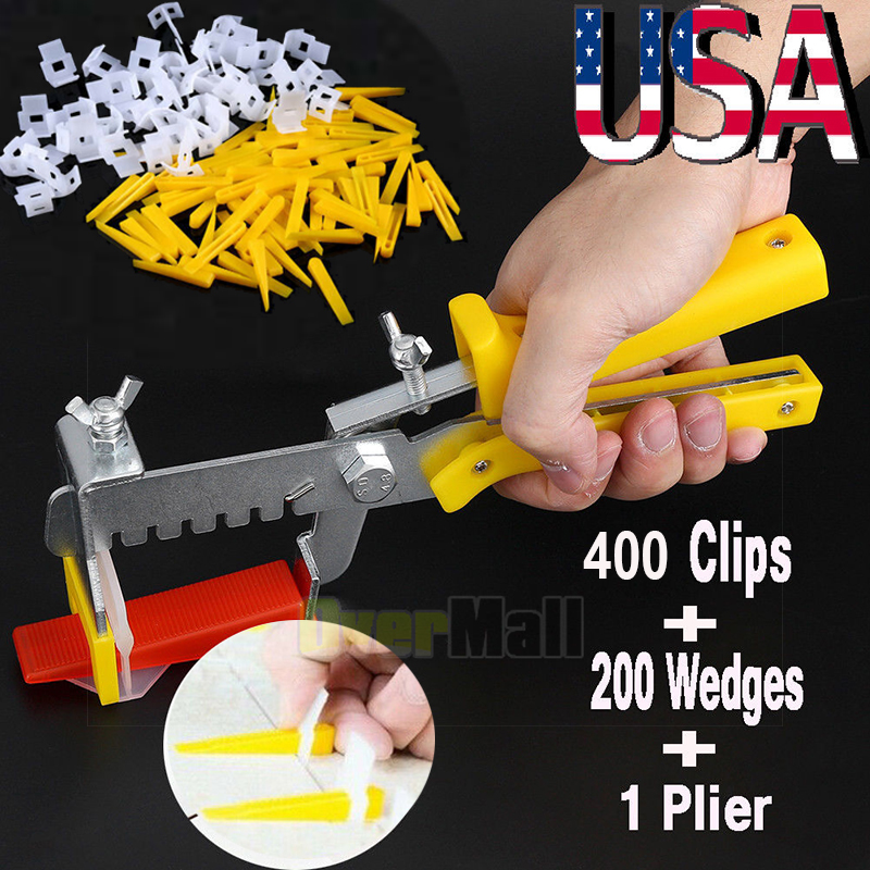 1000X Tile Leveling System Spacer Clips Wall Flooring Tiling Tool 1.5mm 1//16/'/'