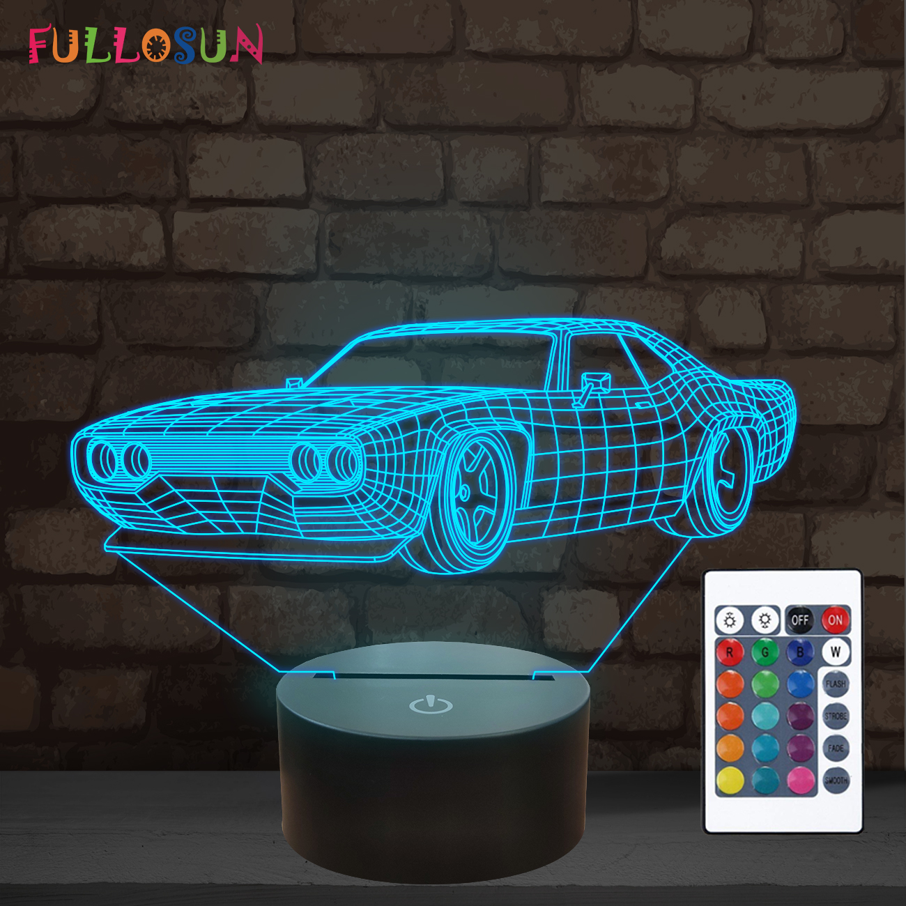Sports Car 3d Night Light Bedside Sleep Lamp Home Kids Boys Bedroom Decor Lamps Ebay