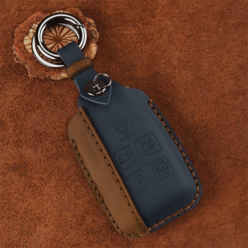 Range Land Rover Discovery Sport Evoque Jaguar 5 Button Leather Key Cover /& Key-chain