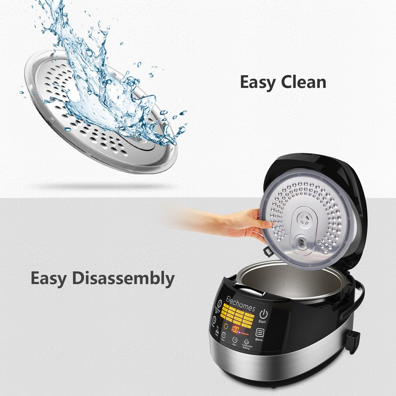 Elechomes LED Touch Control Electric Rice Cooker Cups