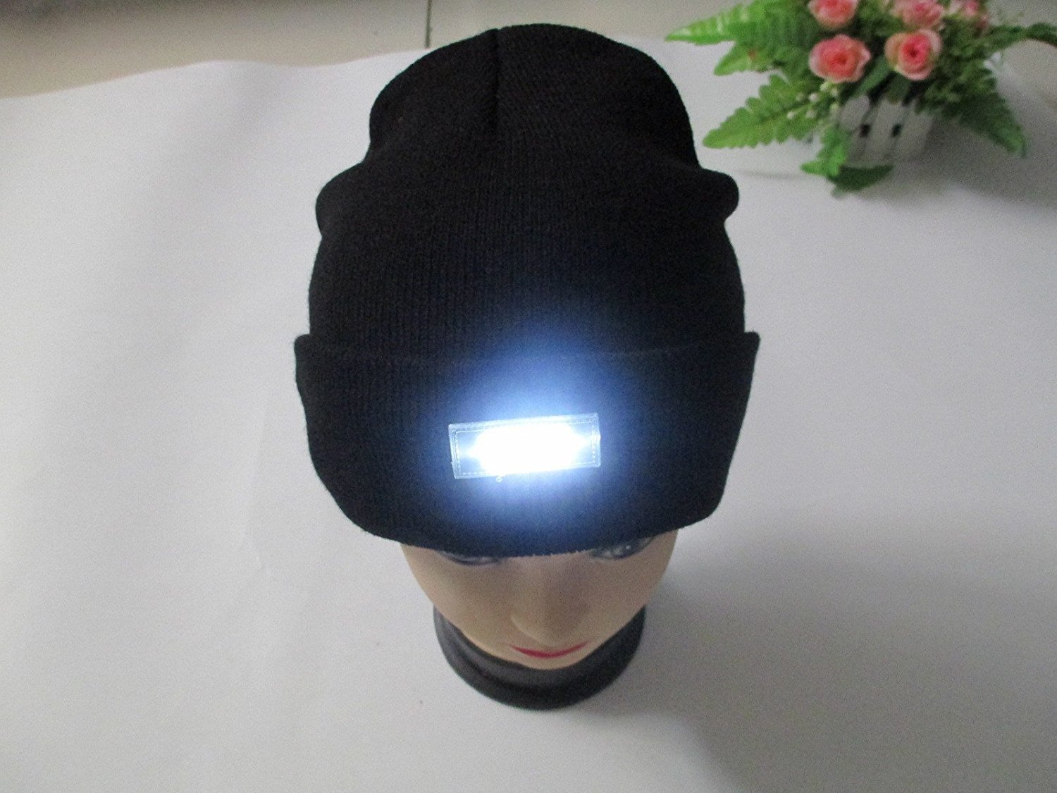 151476288d1 Ohuhu 5-LED Lighted Cap Winter Warm Beanie Angling Hunting Camping Running  Hat