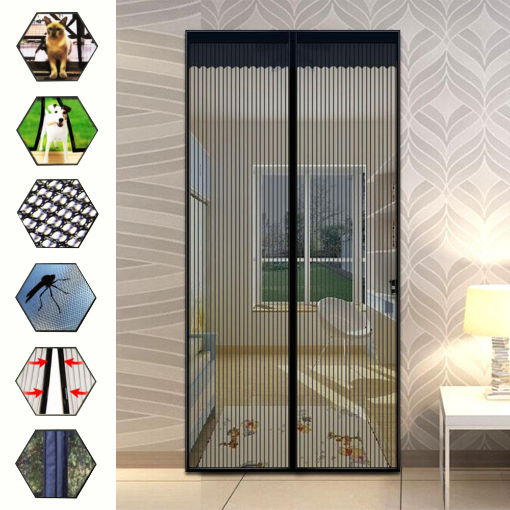 Magic Mesh Anti Insect Fly Mosquito Door Curtain Net Mesh Screen