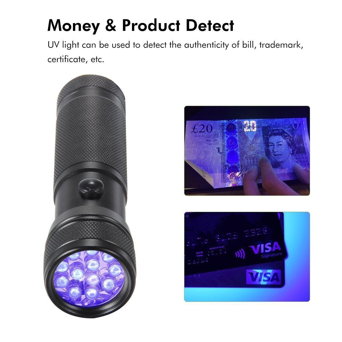 Oxyled 12led Uv Flashlight Mini Portable 395 Nm Ultra Violet Inspection Lamp Ebay