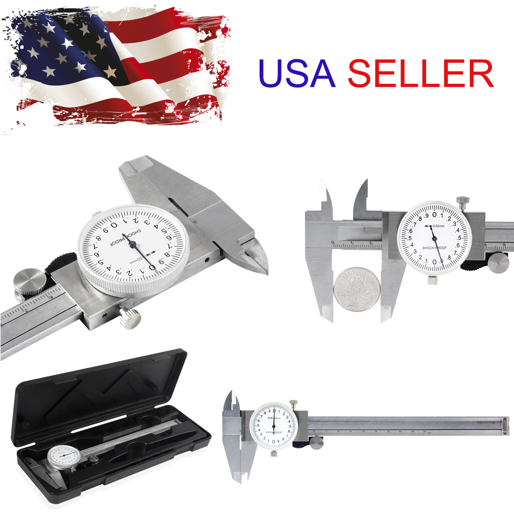 150mm //0.001inch Dial Vernier Caliper Measurement Gauge Micrometer Tool 6inch