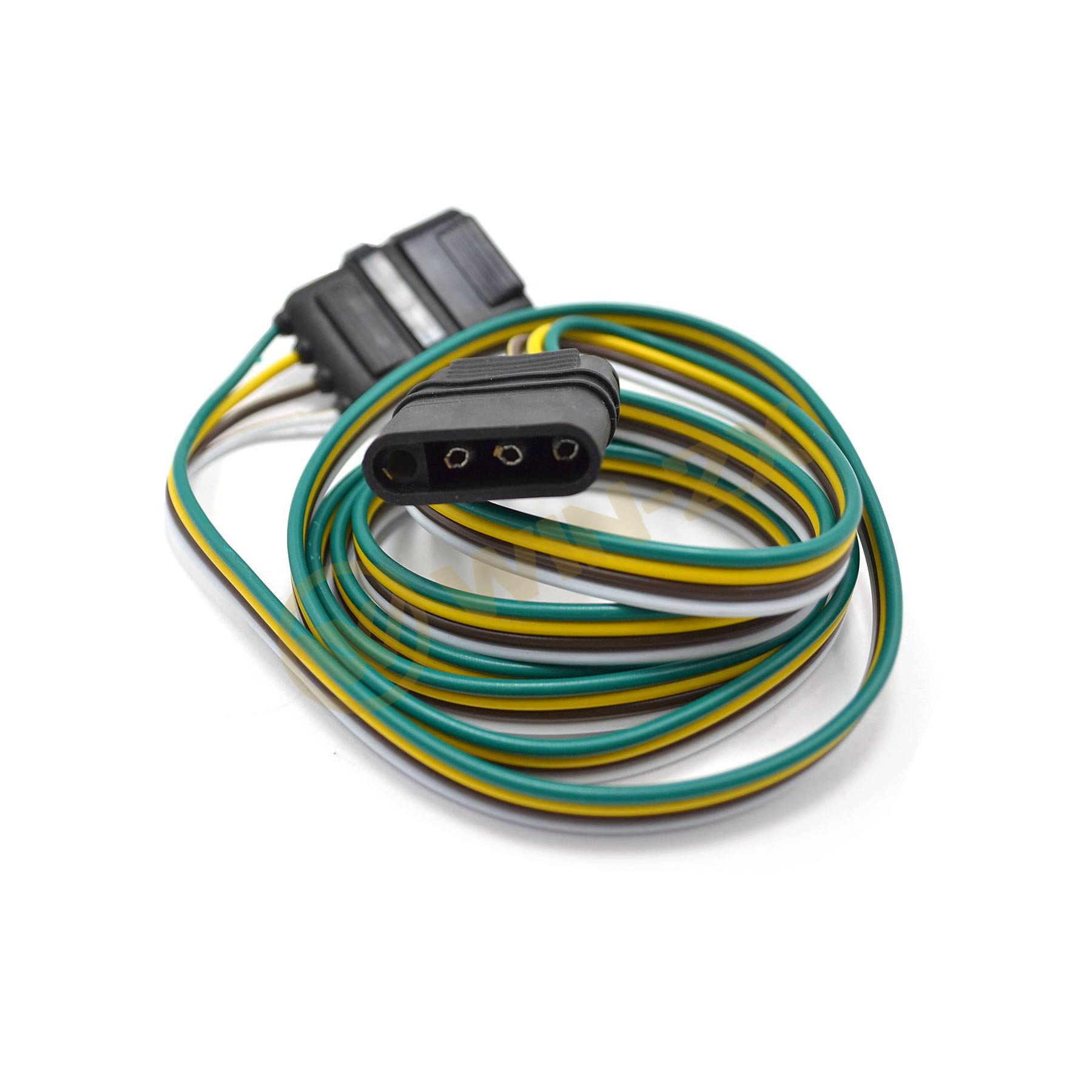 1pc 12v 4 Way Flat Rv Tow Bar Electrical Trailer Socket Plug Wiring This Connectors Harness Unit Has A Male On One Side And Female The Opposite That Can Expand