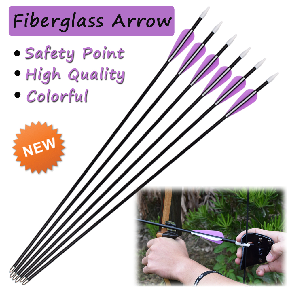 24-26inch Fiberglass Arrows Youth Archery Hunting Target Practice for Children