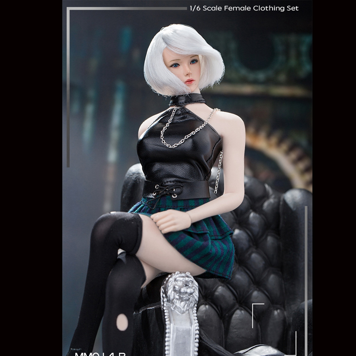 "1//6 Punk Girl Leather Coat/&Skirt Manmodel  MM014 Clothing Set F 12/"" Female Body"