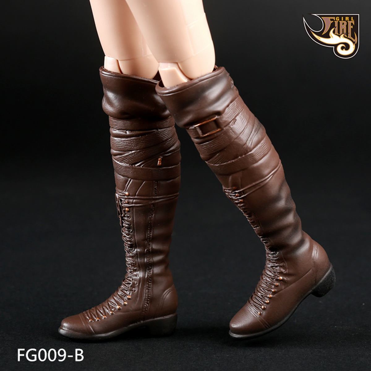 """Fire Girl Toys 1//6 Scale FG009 High Boots Red for 12/"""" Female Action Figure"""