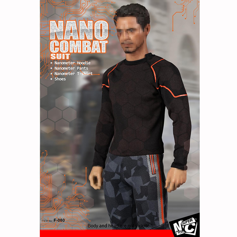 "SUPERMC Toys 1//6 F-080 Nano Combat Suit Hoodie Clothing Shoes F 12/"" Male Figure"