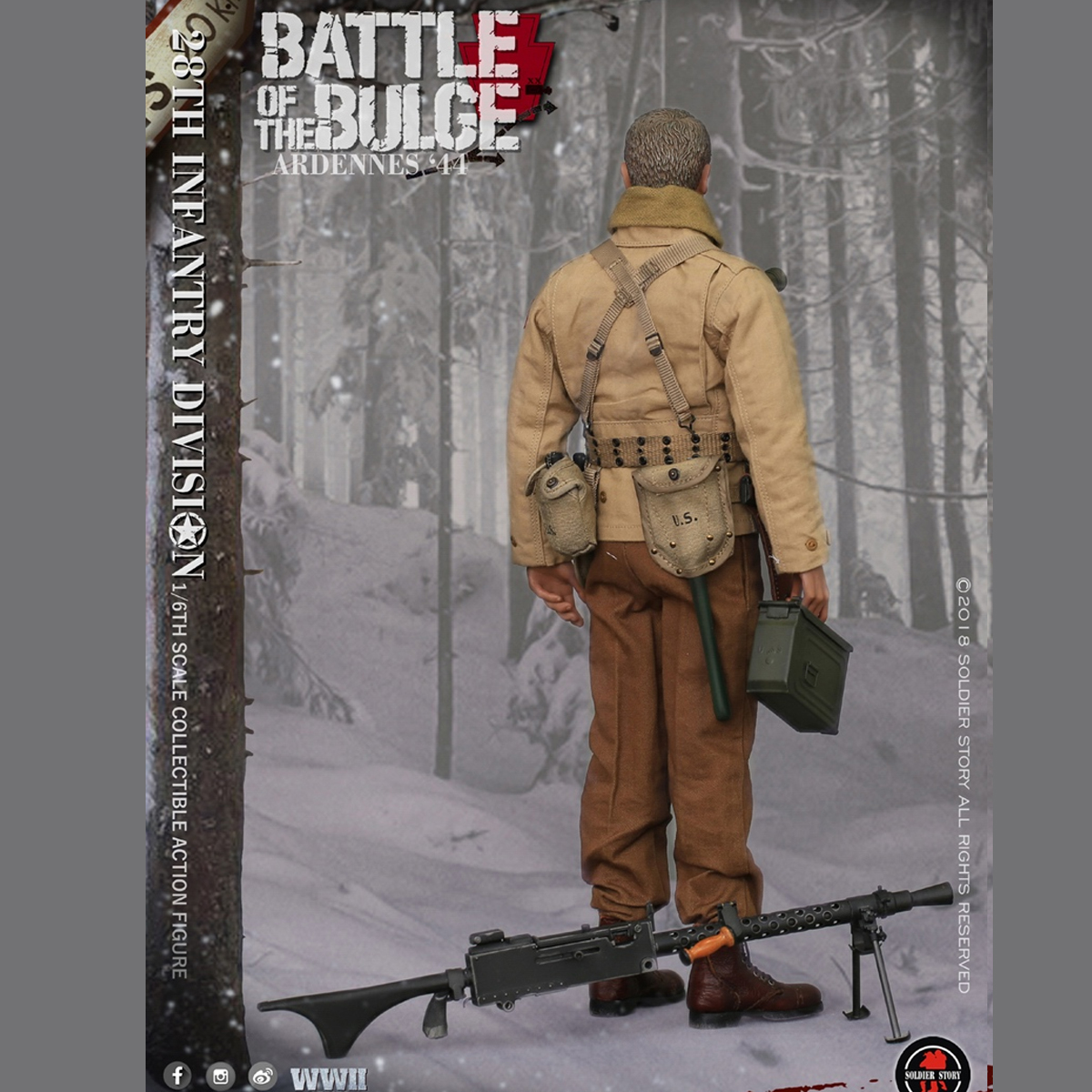 Soldier Story SS111 1//6 US Army Infantry Division 1944 Ardennes Snow Suit Smock