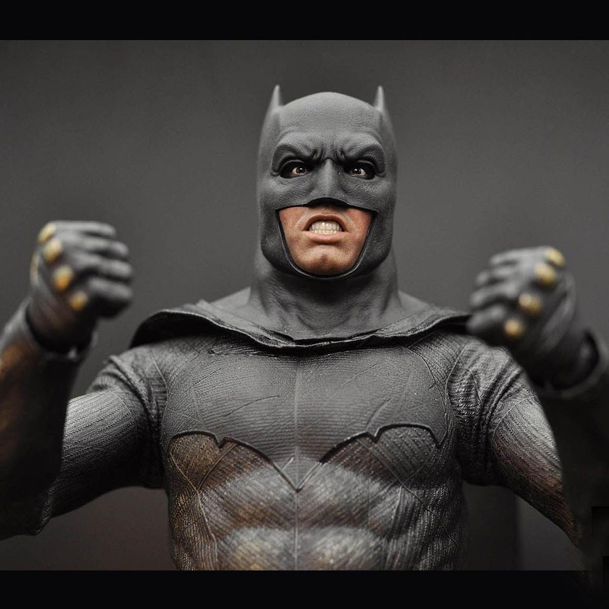 "1//6 Scale BVS Bruce Wayne Batman Helmet//Cape For 12/"" Figure Body Hot Toys"