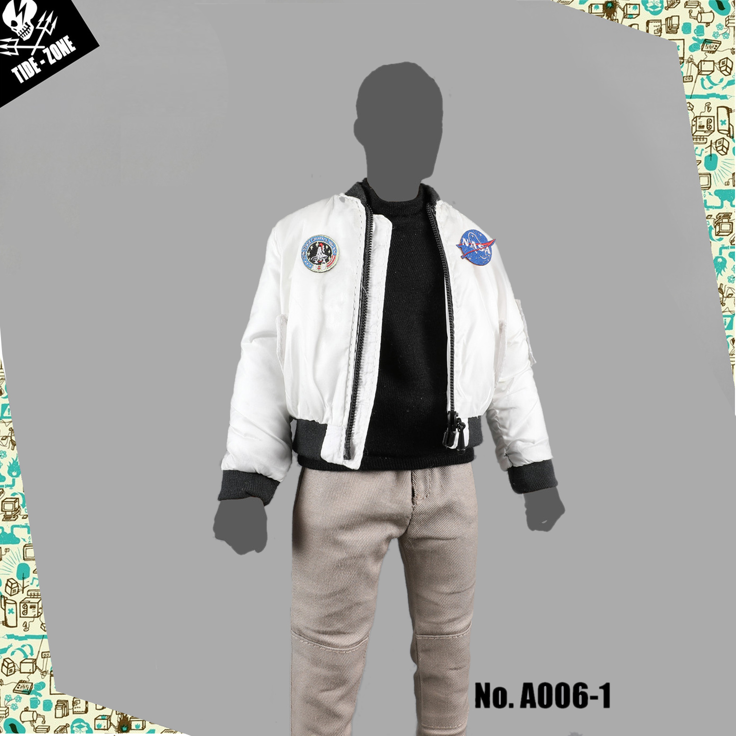"""TIDE-ZONE 1//6 Male Baseball Shirt Clothes Suit Model A008-3 for 12/"""" Figure Body"""