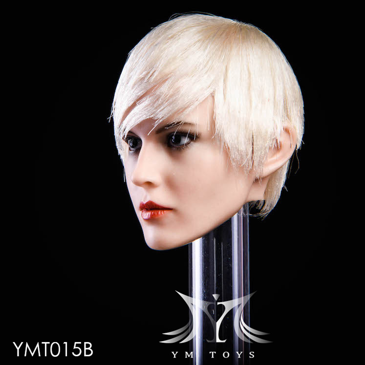 """YMTOYS YMT015 B 1//6 Scale Female Head Sculpt Fit for 12/"""" Action Figure"""