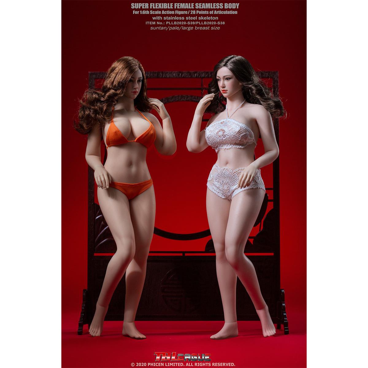 TBLeague 1//6 Female Plump Figure Body W//O Head Model White PLLB2020-S38A Toys