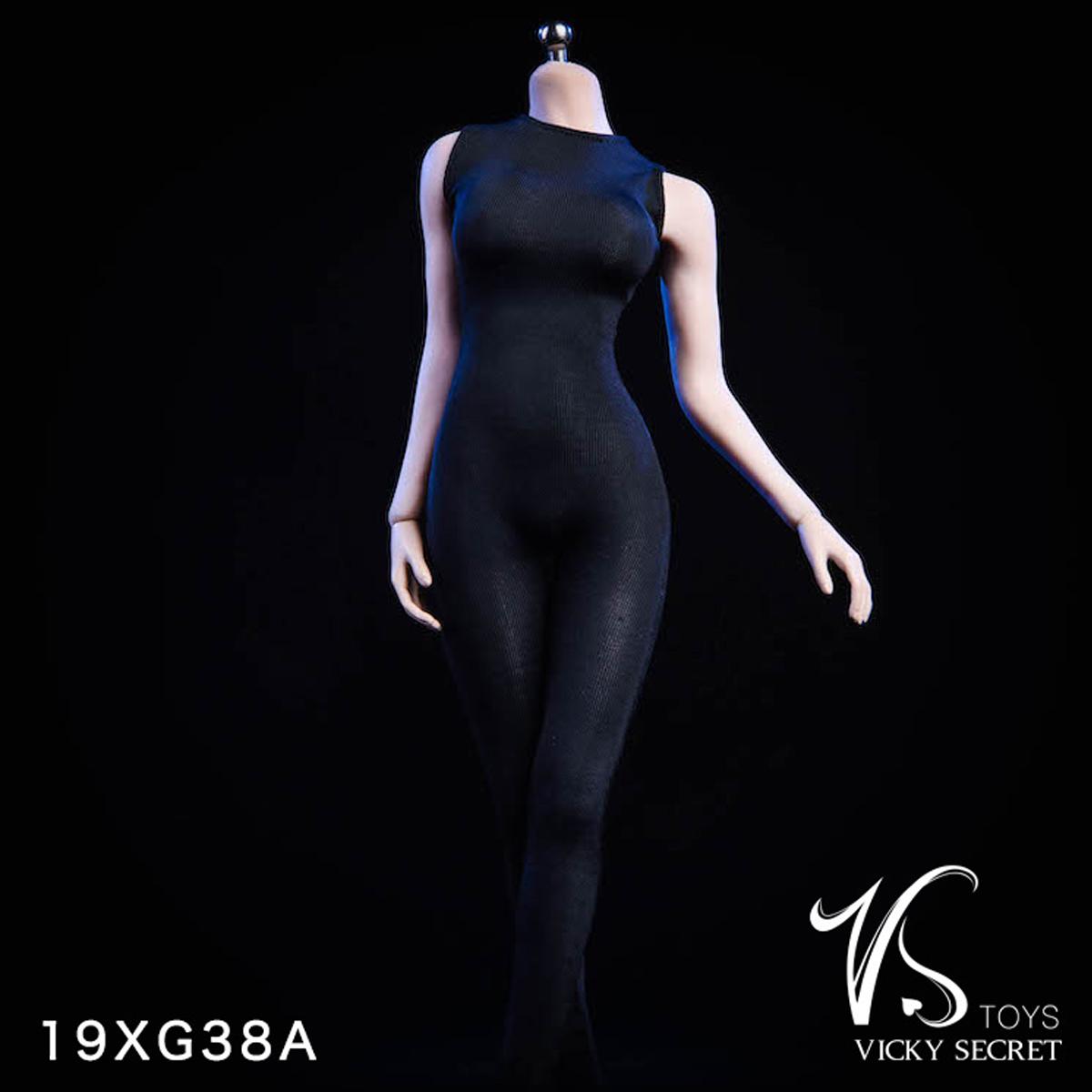 """VSTOYS 19XG37B 1//6 White Long Sleeved Bodysuit Clothes For 12/"""" Female Figure"""
