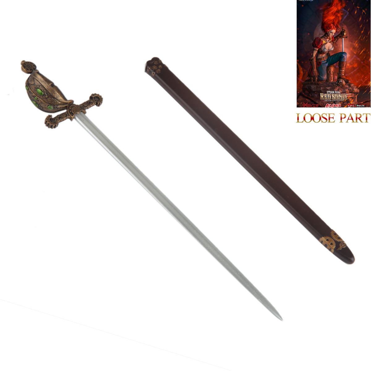 TBLeague PL2019-140 1//6 Scale Steam Punk Red Sonja Sword with Sheath