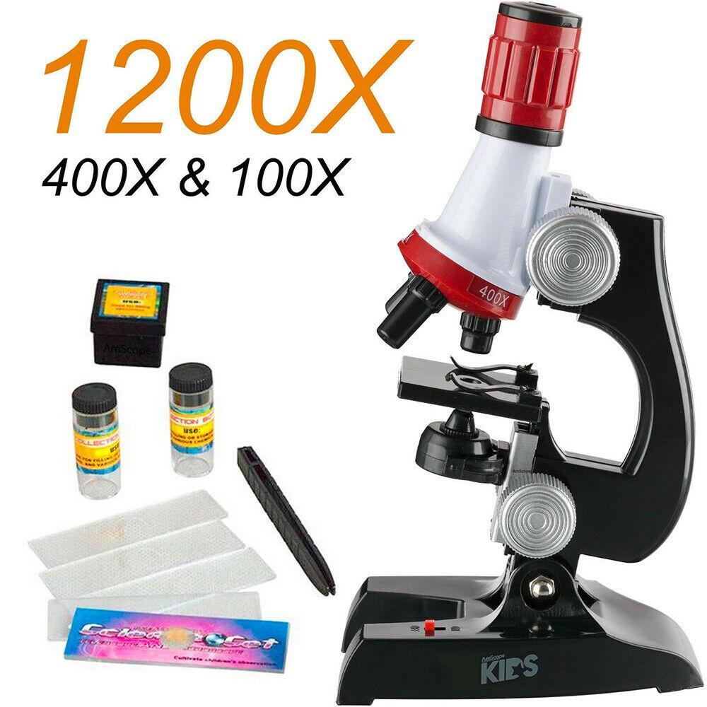 100//400//1200x Educational Beginner Optical Microscope LED Monocular Viewing Head