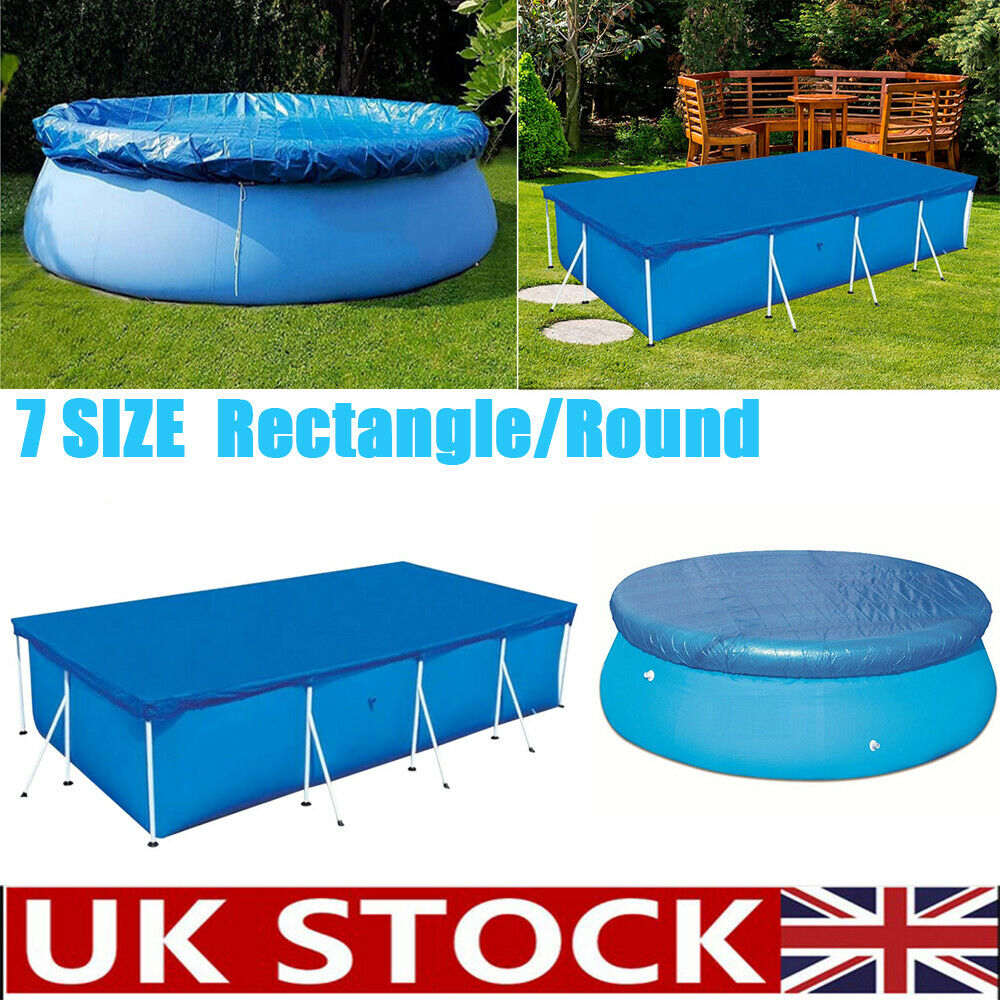 Rectangle Round Swimming Pool Cover For Garden Outdoor Paddling Family Pools Uk Ebay