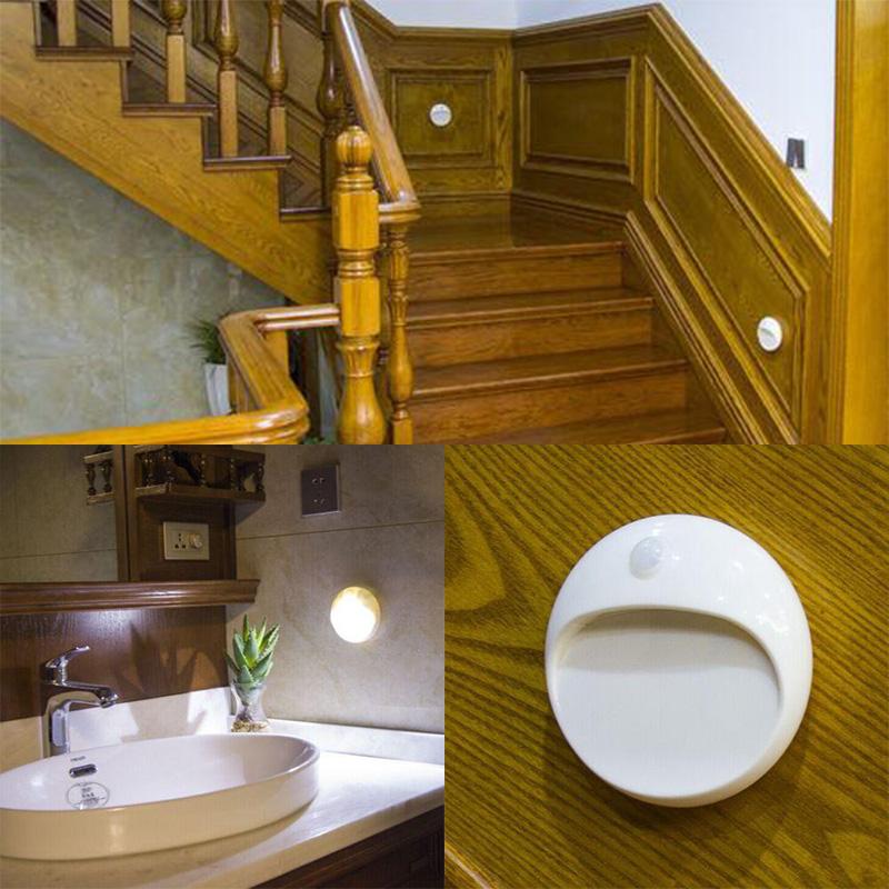 Led Pir Motion Sensor Lamp Light Indoor Wall Stair Shed