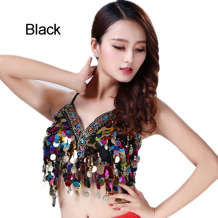 2952db8f72 Rainbow Mermaid Body Chain Sequin Bralet Beach Mirror Harness Crop Top  Festival