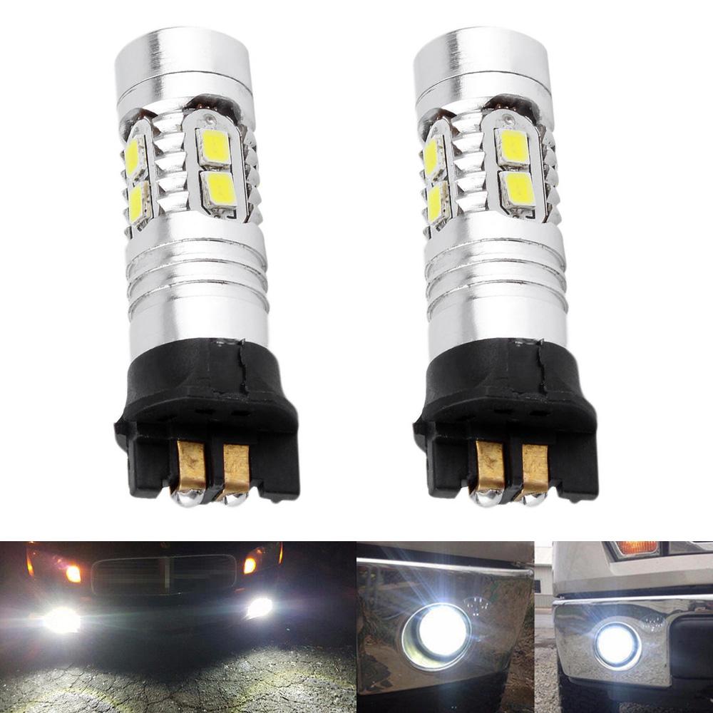 2pcs Error Free White PW24W LED Fog Driving Light Bulbs DRL For BMW 3 Series F30