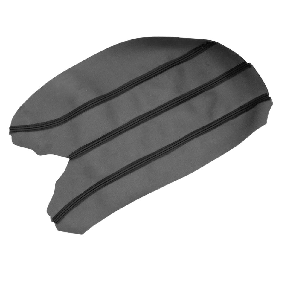 1 Pack Center Console Lid Armrest Cover Skin Leather Black