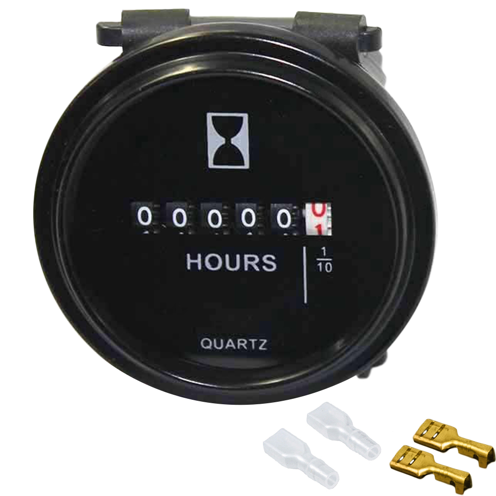 "12v 24v 36v Hour Meter for Marine Boat Engine 2/"" Round Gauge-GOOD"