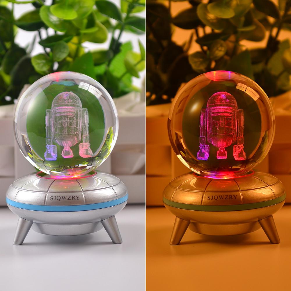 star wars r2 d2 3d kristall led tischlampe nachtlicht nachttischlampe geschenk ebay. Black Bedroom Furniture Sets. Home Design Ideas