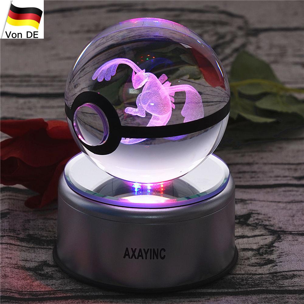 Pokemon Pokeball Lugia 3D LED Kristall Tischlampe Nachtlicht Geburtstag Geschenk | Auktion