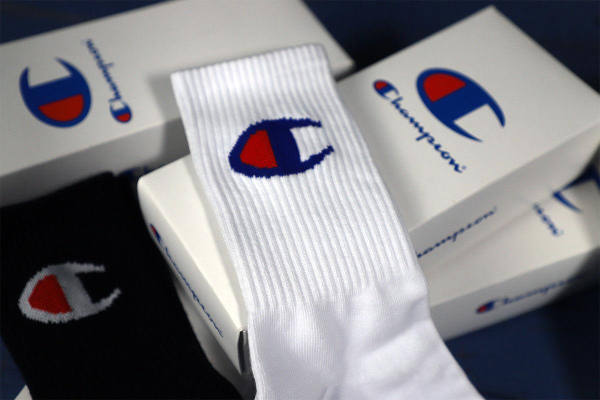 9c426fb575c New Champion Socks Cotton Sports Tide Brand Socks Skateboarding 4 Pieces Of  Box