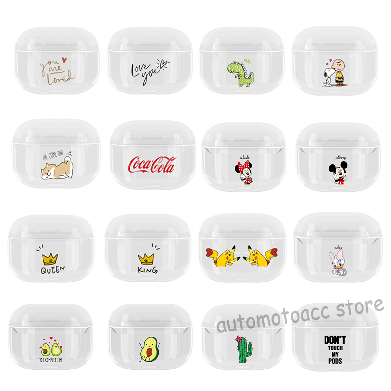 For Apple Airpods Pro 3 Cute Cartoon Pattern Protective Hard Pc Clear Case Cover Ebay