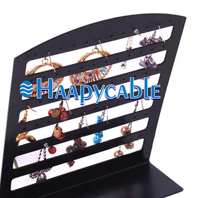New Plastic 72 Holes Jewelry Earrings Display Rack Stand Organizer Show Holder 207