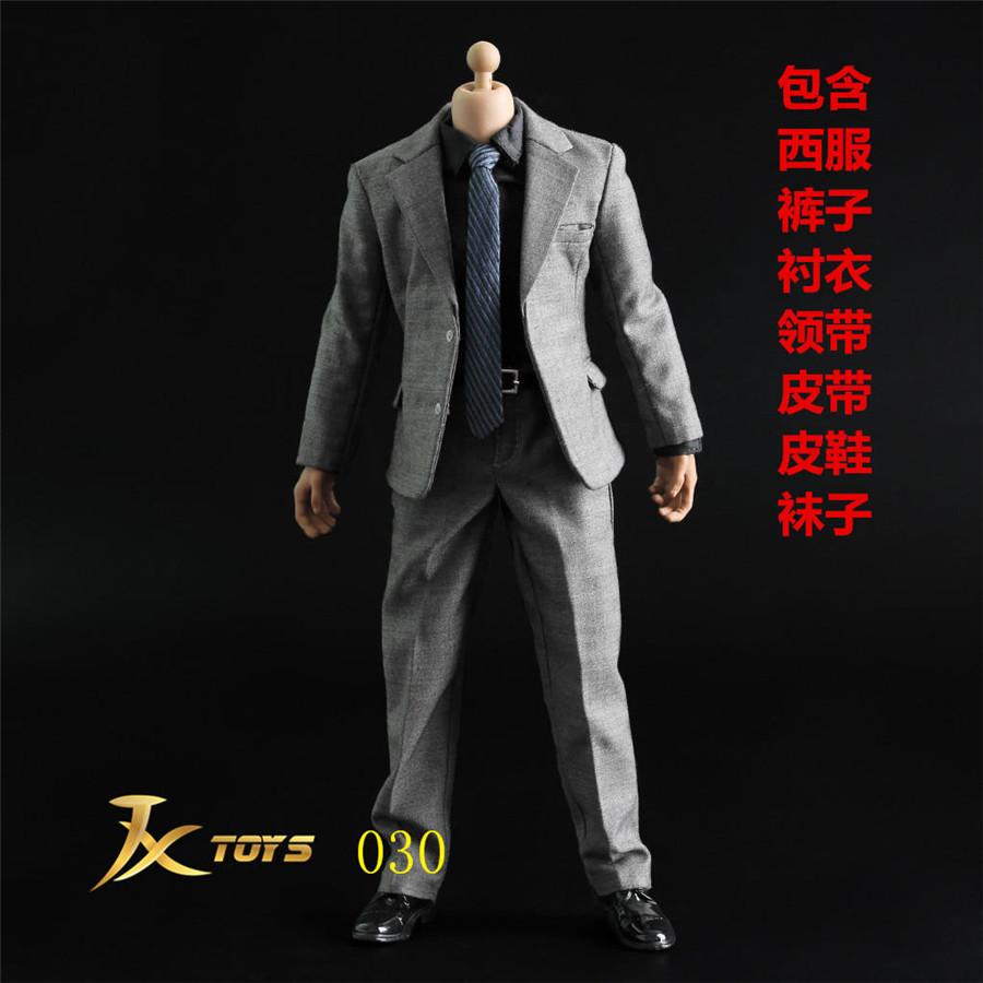 JXTOYS JX013 1//6 Men Gray Suit Clothing  Suit F 12/'/' Narrow Shoulder figure Body