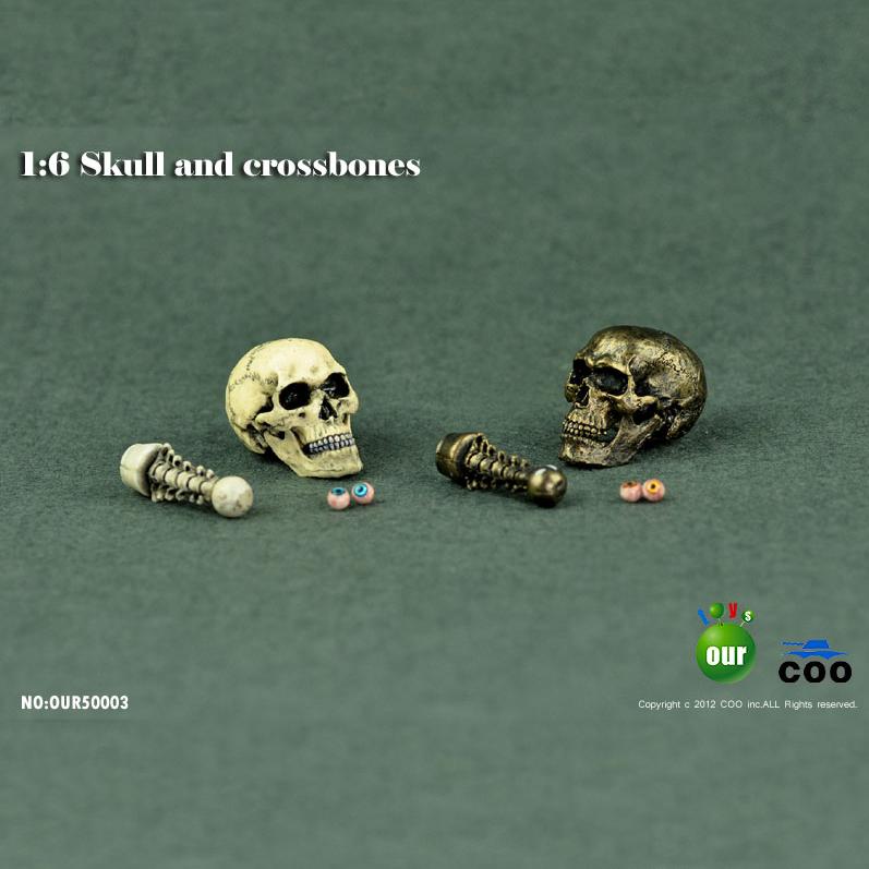 3pcs COOMODEL OUR50006 1//6 Decoration Skull Modle Series For DIY Figure Scene