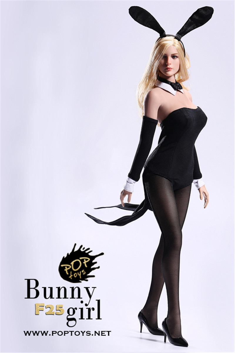 Details about In Stock POPTOYS 1/6 Sexy Waitress Bunny Girl suit costume  HOT FIGURE TOYS