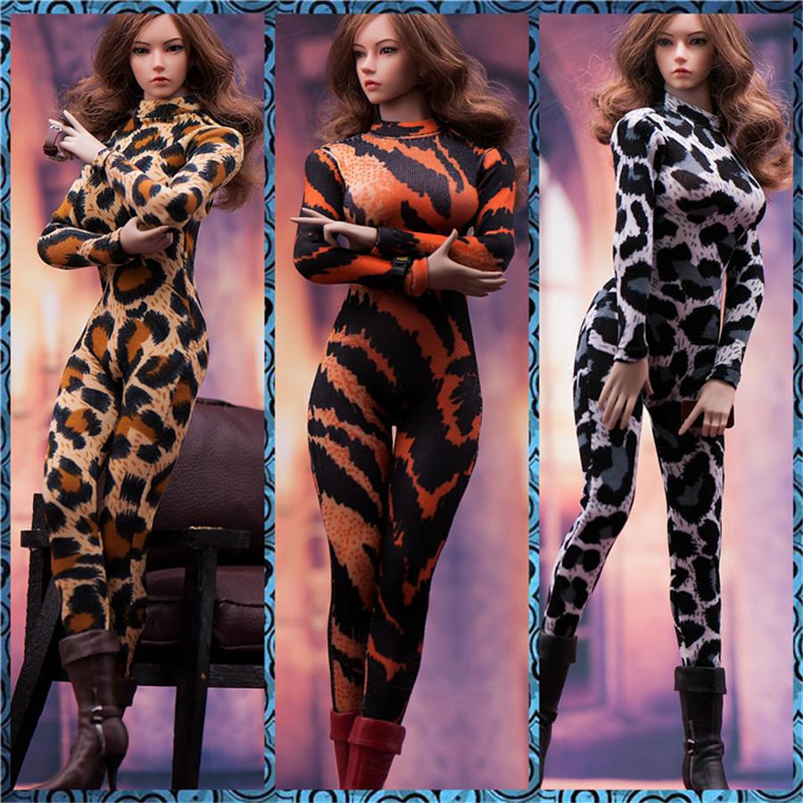 "FASToys 1//6 FA-19CL02 Female Leopard Deep V Jumpsuit Clothes F 12/"" Figure Body"