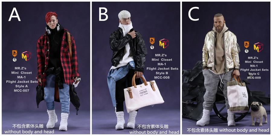 MCC009 MCCToys Mr.Z 1//6 Man Casual Costume Model Flight Jacket Clothing Suits