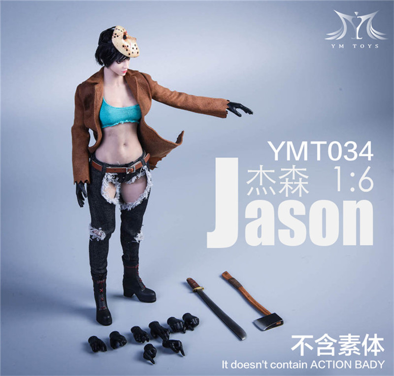 YMTOYS Freddy Jason 1//6 Female FIGURE TOY clothes headplay accessories bag