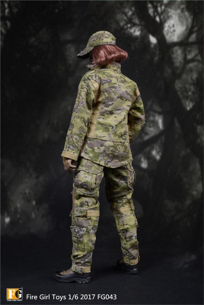 Fire Girl Toys FG043 1//6 American Navy Seal CP Camo Female Commando Soldier Set