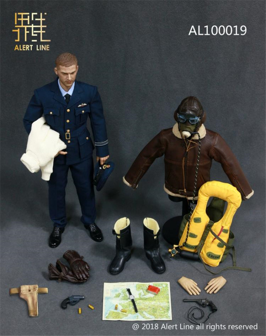 Alert Line Al100019 1 6 British World War Ii Airman Hot Figure Toys