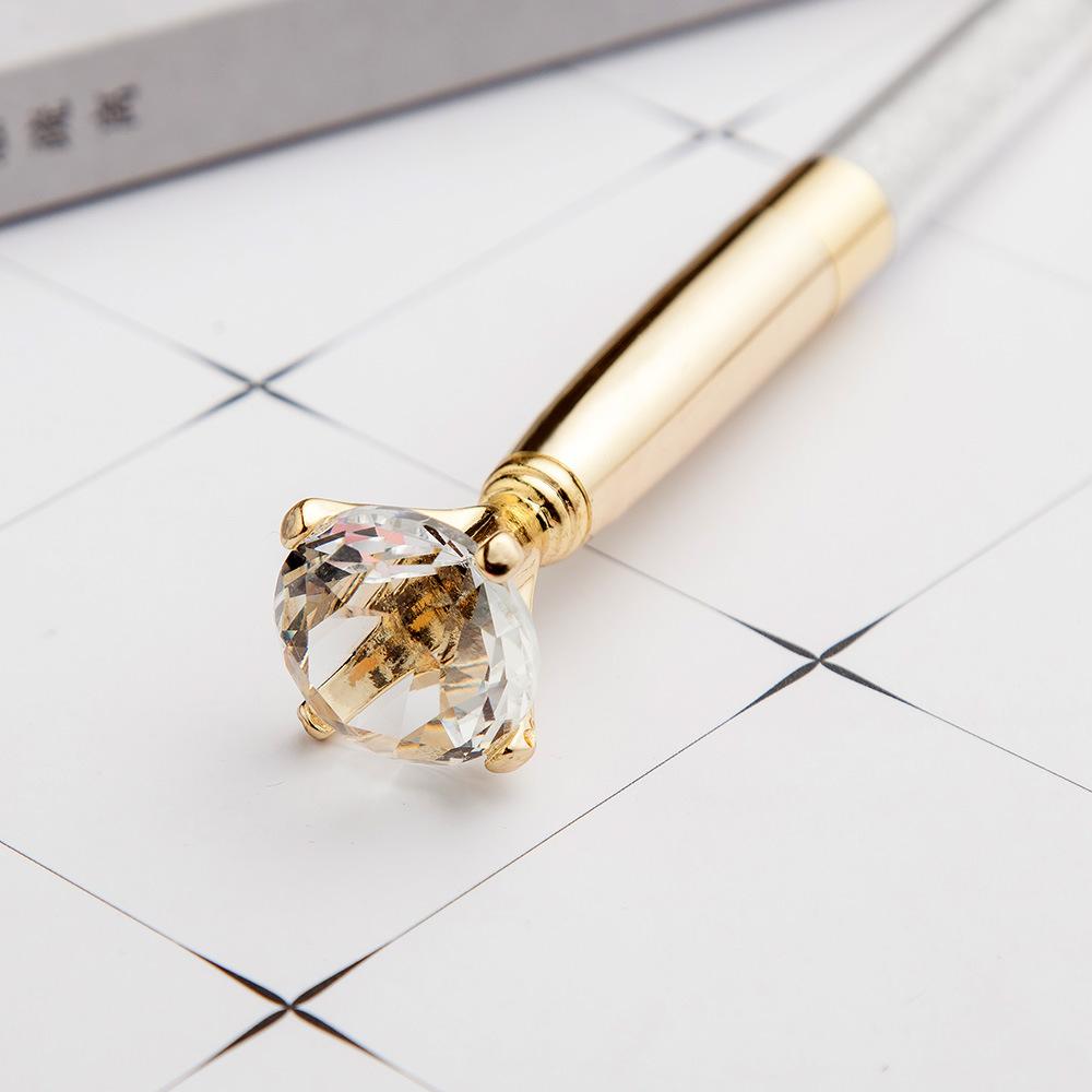 5 Pcs Big Diamond Crystal Pen Ballpoint Pens Wedding Metal Magical Pen Fashion