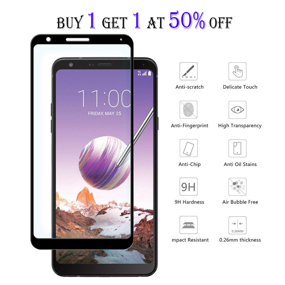 Details about Full Cover Tempered Glass Screen Protector For LG Stylo 4 3  V40 V30 K30 G8 ThinQ