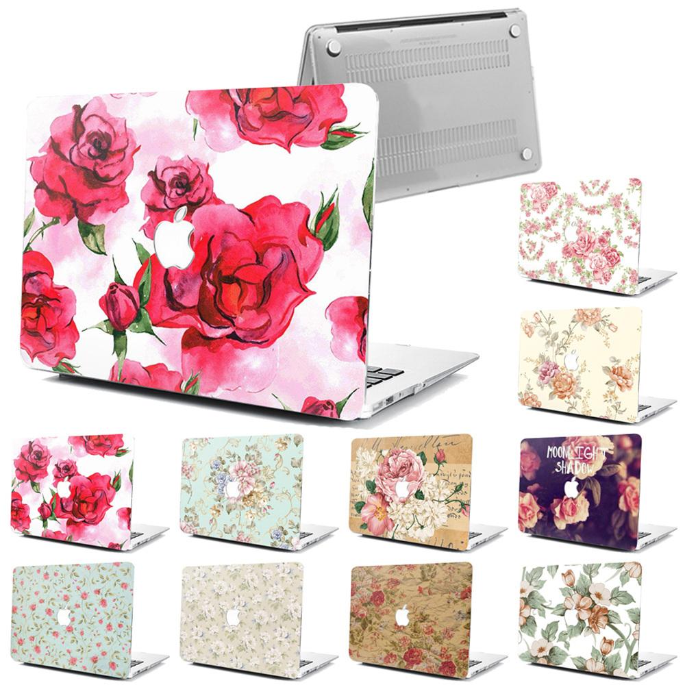 """Fr Macbook Air 11/""""12/""""Pro 13/""""15/""""Retina Flower Hard Laptop Case Floral Shell+KB+SP"""