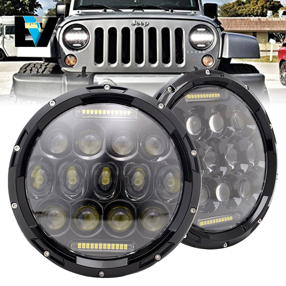 For Jeep Wrangler 7 Quot Round Led Headlights Lamp With Drl