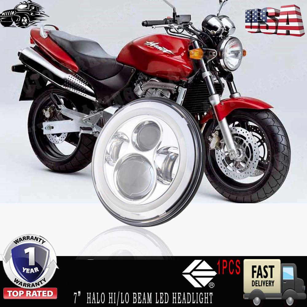 Motorcycle Headlight Chrome Assembly H4 For Honda Hornet 250 600 900 VTR250  US