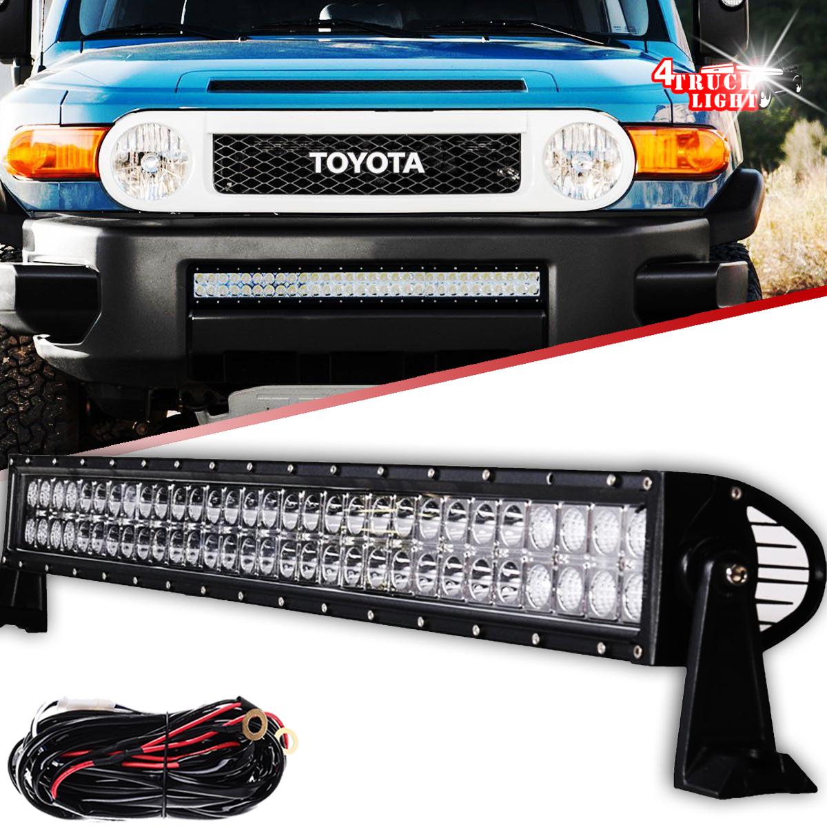 """180W 30"""" LED Light Bar w/Wiring Kit For Toyota FJ Cruiser Front Lower  Bumper 32"""""""
