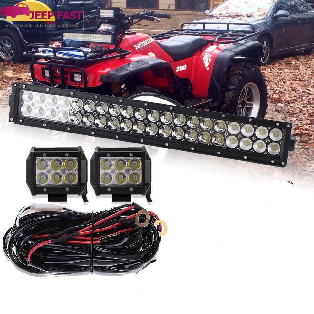 wrg 1299] honda fourtrax wiring main kithonda fourtrax trx 300 super white 20\u0027\u0027 led light bar combo 18w